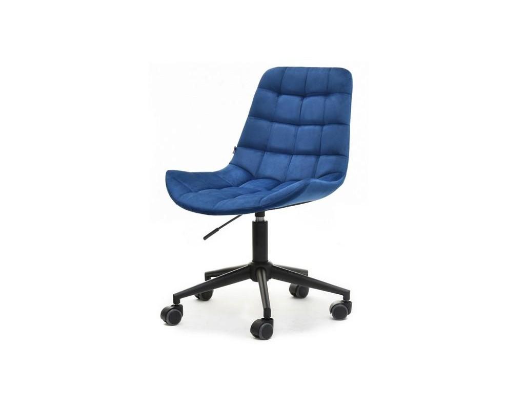 Krzesło obrotowe do biurka ELIOR GRANAT welur i czarna noga