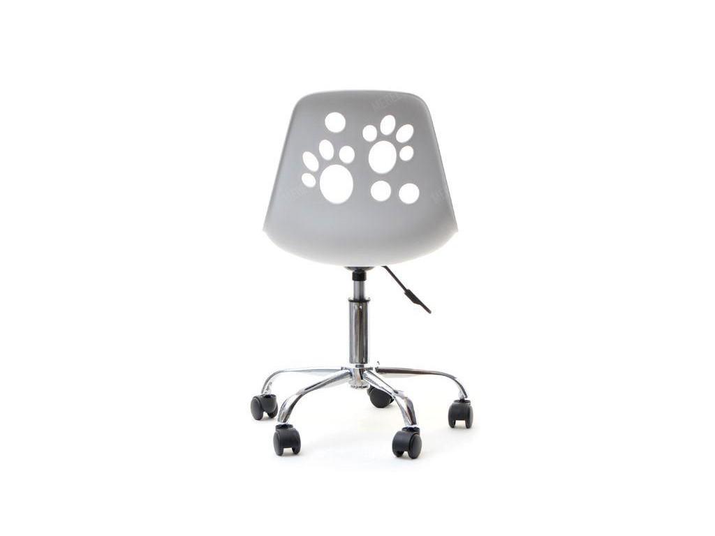 Kmp Krzesło Obrotowe Foot Biało Szare